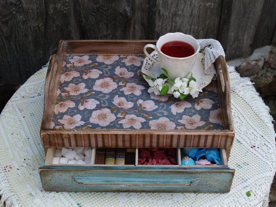 Unfinished Wooden Trays For Decoupage Decoration Classy Wooden Serving Tray Coffee Tea Tray Rustic Style Looking Decoupage Design Decoration