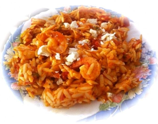 Orzo With Shrimp And Feta Seafood Recipes Dinner Good Eats