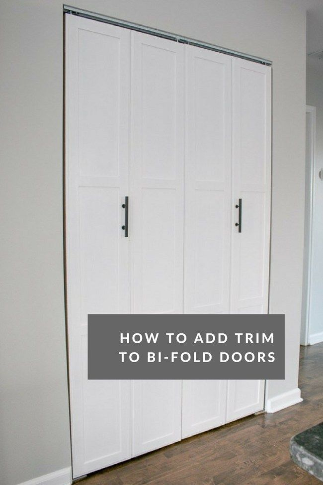 Diy Tutorial Transform Plain Bi Fold Doors The Diy Playbook Bifold Doors Makeover Bifold Doors Folding Closet Doors