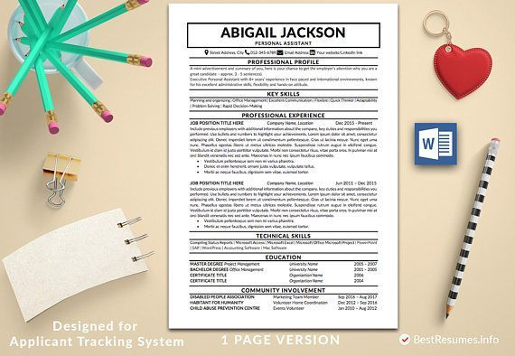 A Good Resume Resume Template With A Cover Letter And References Template Get A .