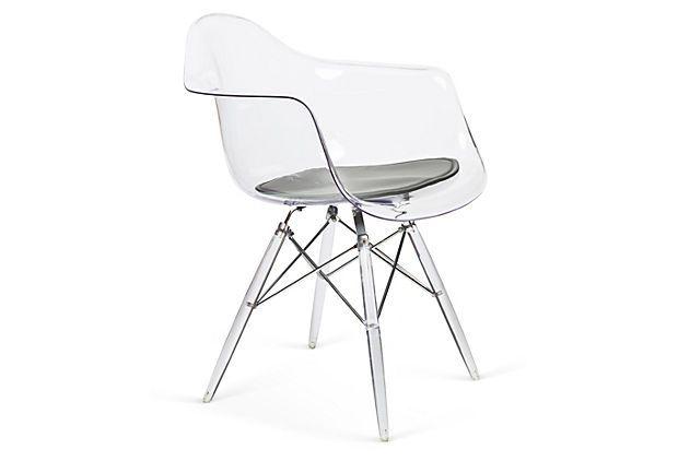 Nybro Shell Armchair Clear Gray On Onekingslane Com