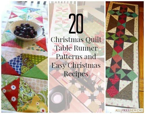 27 Christmas Quilt Table Runner Patterns and Easy Christmas ... : christmas quilting patterns table runners - Adamdwight.com