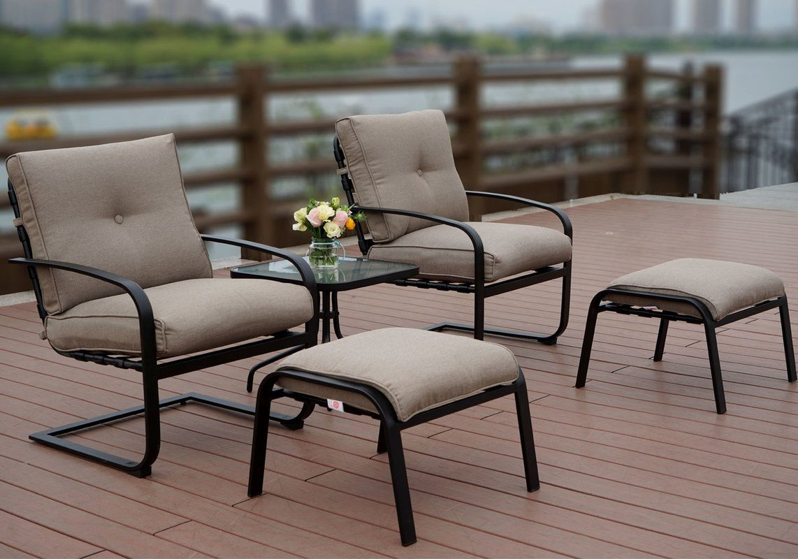 Sundorne 5 Piece Seating Group With Cushions Outdoor Furniture
