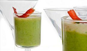 Receta de Chupitos de brócoli y camembert