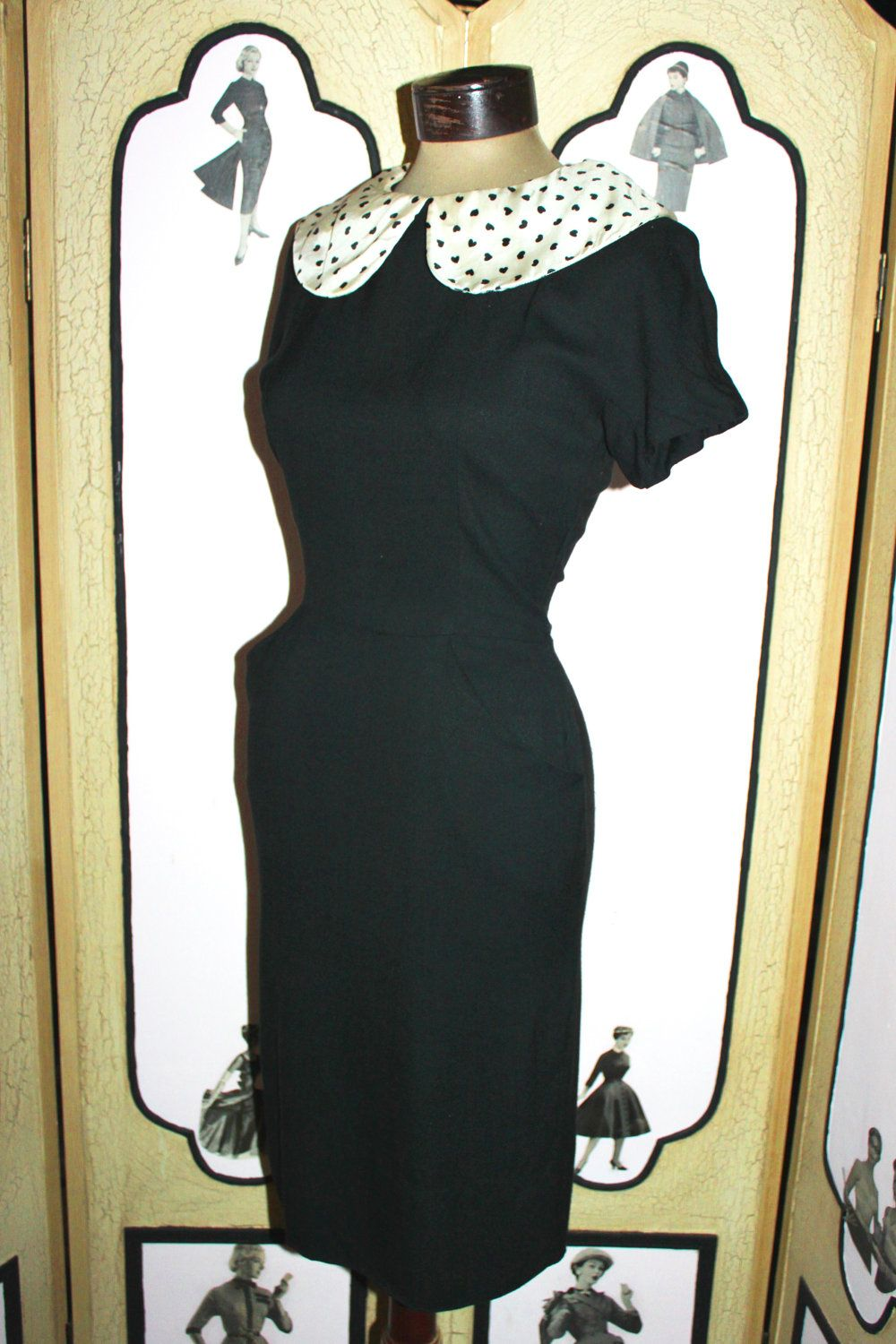 Vintage late us jonathan logan piece dress set with polka heart