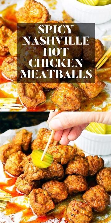 How to make Nashville hot chicken meatballs