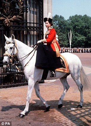 The Queen after the Trooping of the Colour in 1963
