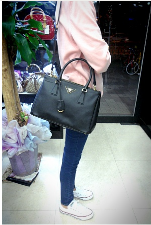 4267e22182c544 prada saffiano leather tote bag with sling (bn1801) | Want | Bags ...