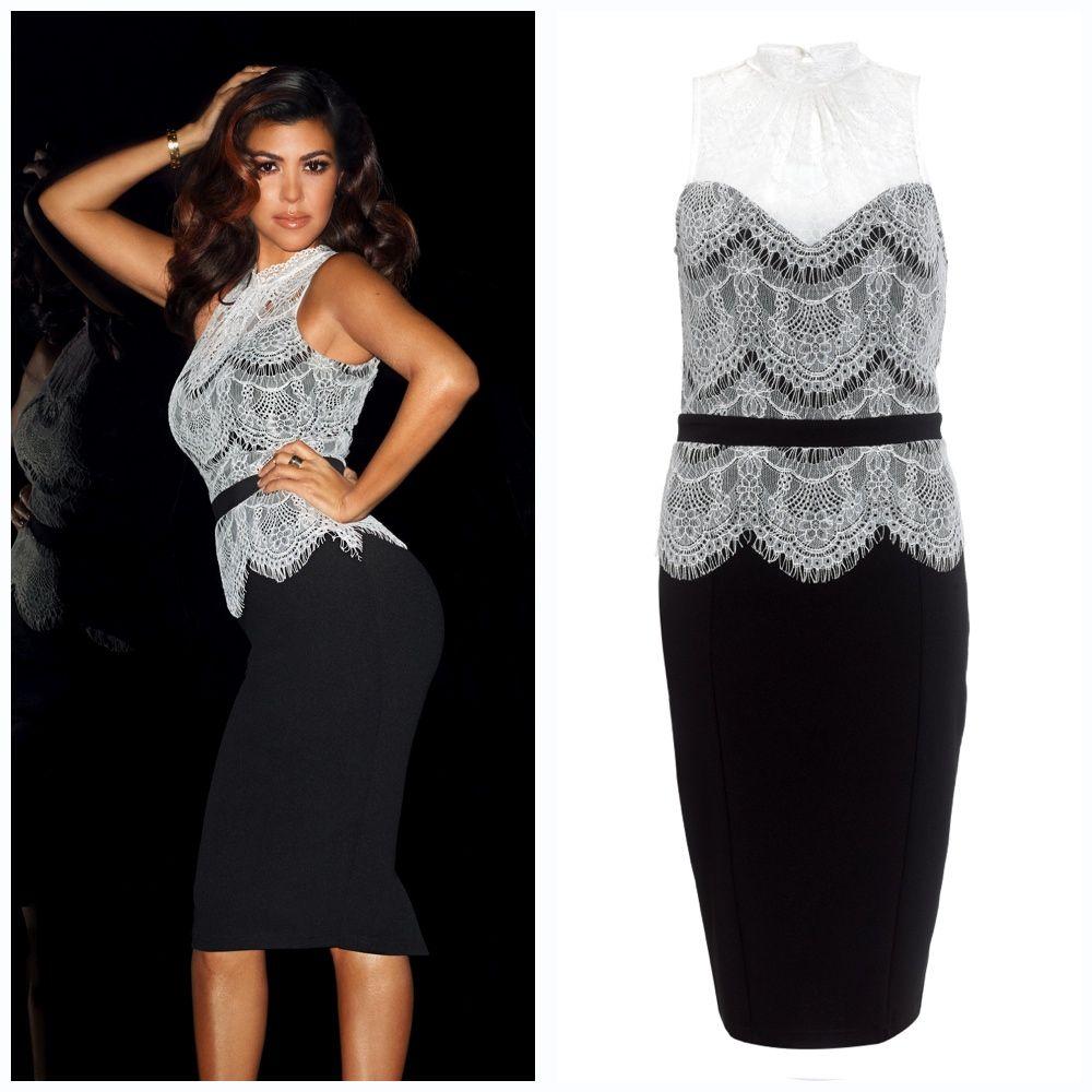 Kardashian Lace Top Peplum Dress Kollection