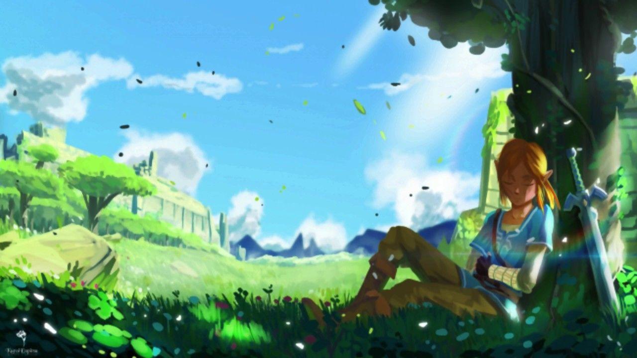 Beautiful Relaxing Music The Legend Of Zelda Breath Of The Wild Legend Of Zelda Wallpaper Backgrounds