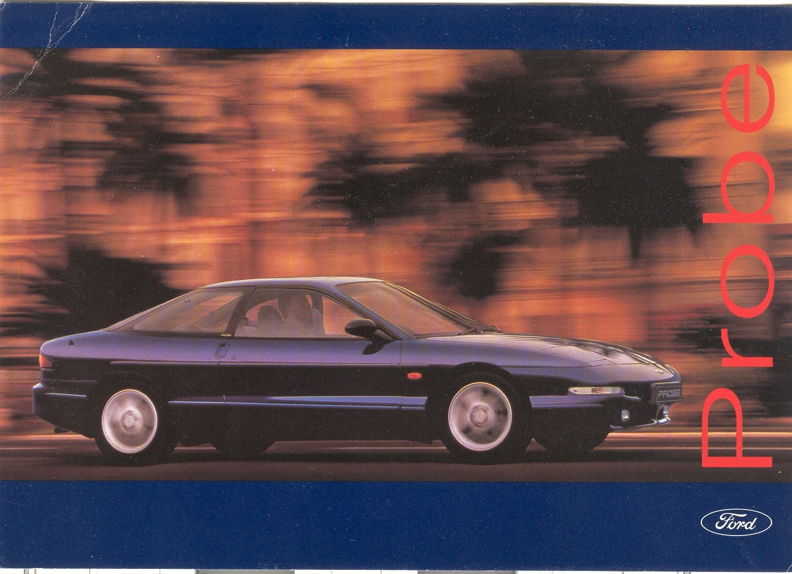 From The Launch Of The Ford Probe Ford Probe Automotive Art Ford