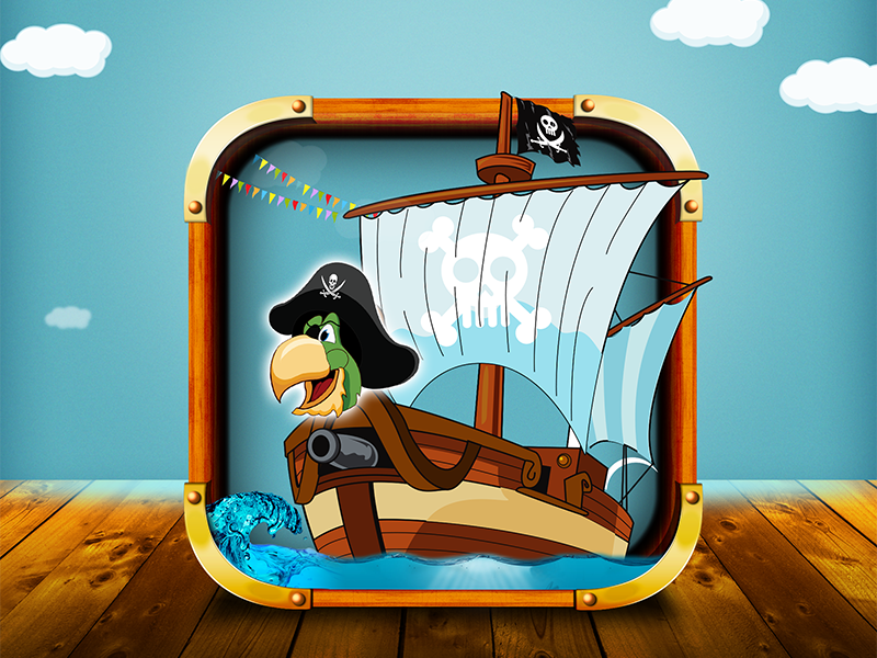 Party Pirats Icon by Lokesh Dave for OpenXcell