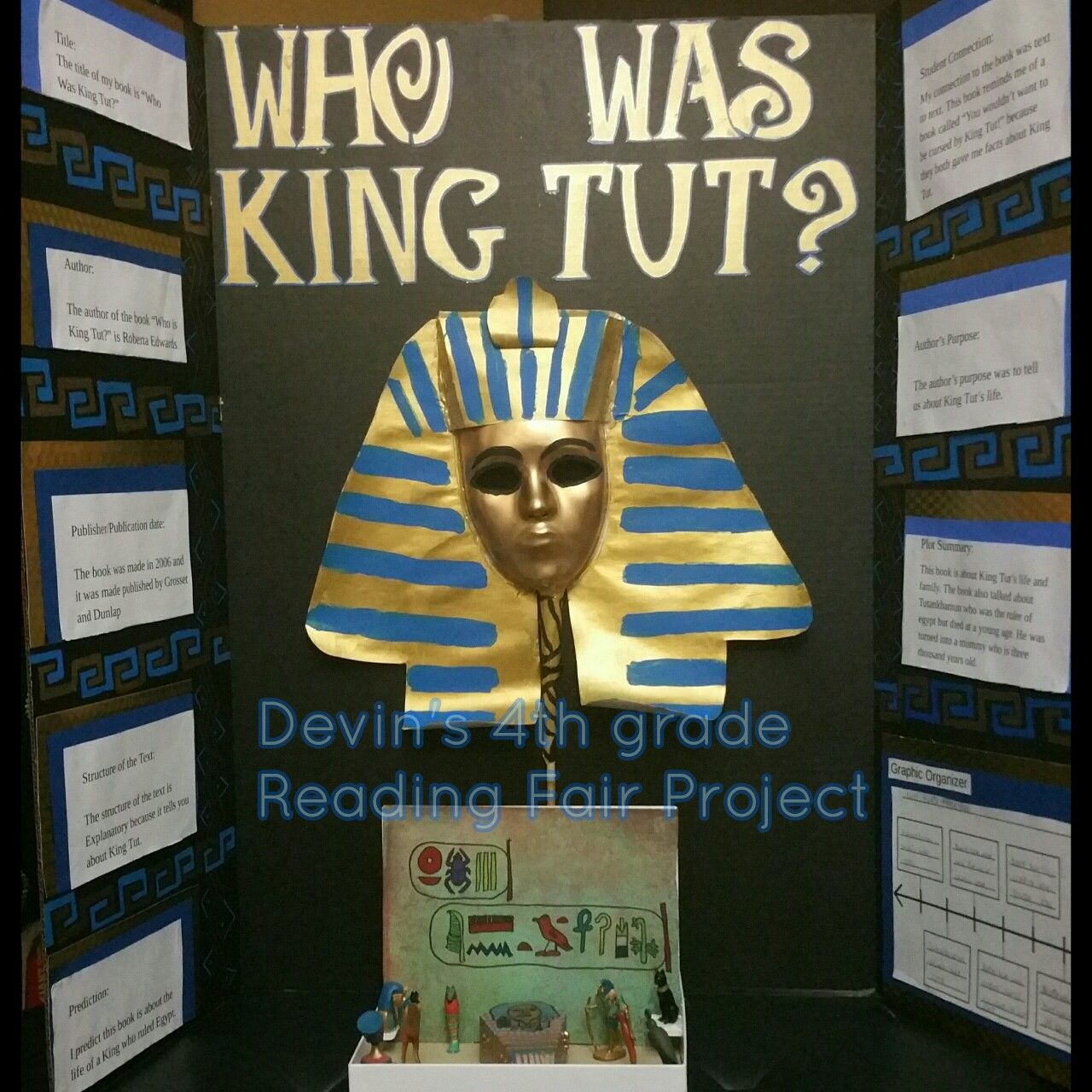Devin S 4th Grade Reading Fair Project Book Who Was King