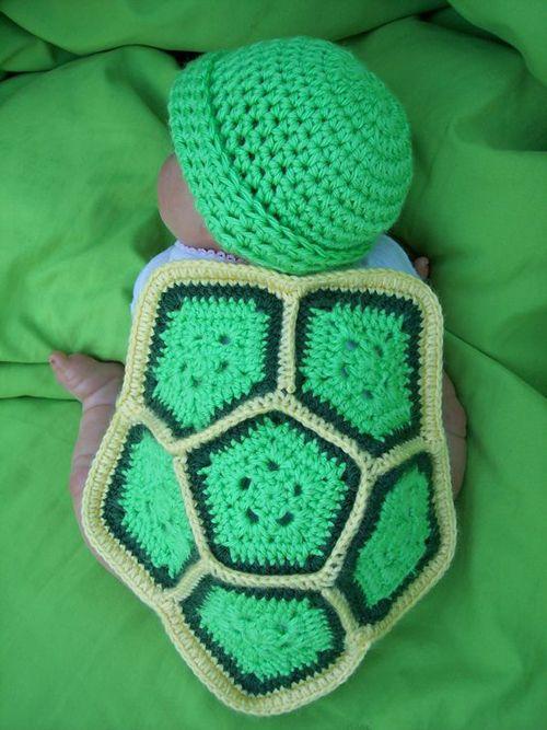 Crochet baby turtle photo prop free pattern (Crochet For Children ...