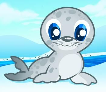 animals how to draw a seal for kids - Fun Drawings For Kids