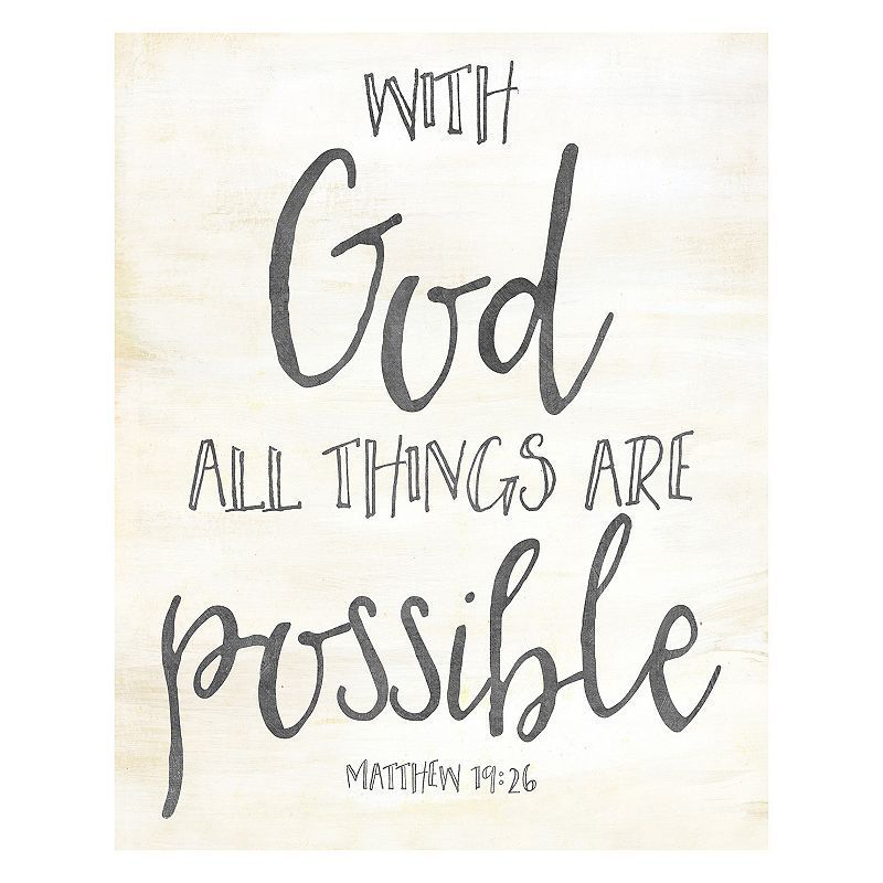 artissimo god all things are possible canvas wall art