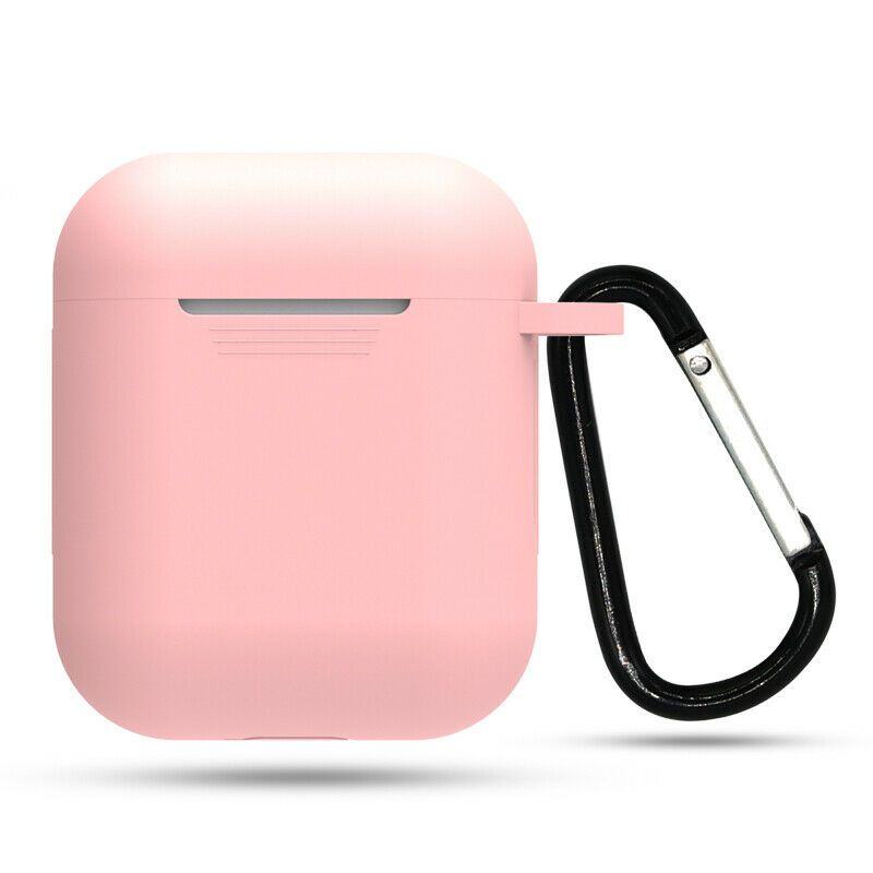 Quantity One 1 Pink Airpods Charging Case Cover With Free Carabiner Compatible With Apple Airpods Never Worry About Scratching Case Silicon Case Case Cover