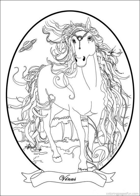 Coloring Pages Of Berasara Magic Horse 5 772 Disney Illustrations Free