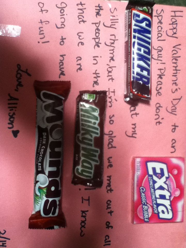 Candy bar poem for valentines day! A good way to say I love to ...