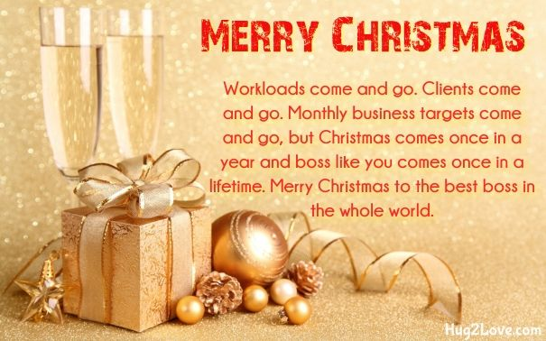 Merry Christmas Wishes To A Boss