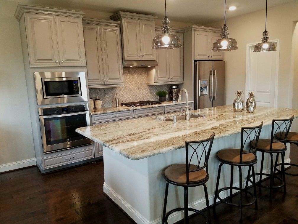 Best Fantasy Brown Granite And Grey Cabinets Beazerhomes 400 x 300