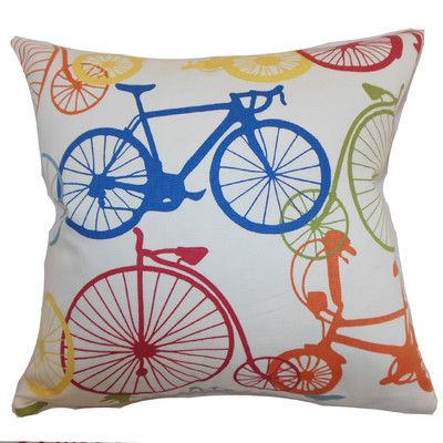 The Pillow Collection Echuca Bicycles Cotton Throw Pillow Cover In 2021 Throw Pillows The Pillow Collection Cotton Throw Pillow