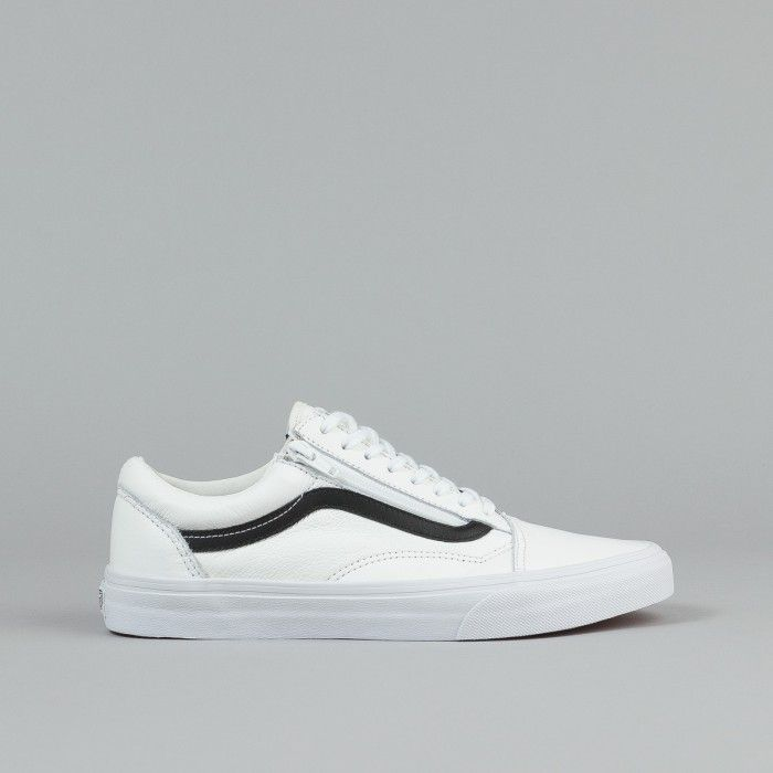 vans old skool true white and black