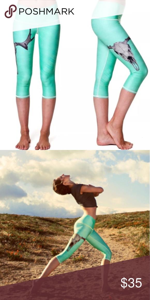c51957fc56d98 NEW Teeki Deer Medicine Goddess Capri Leggings L NWT New With Tags Women's  Teeki Deer Medicine