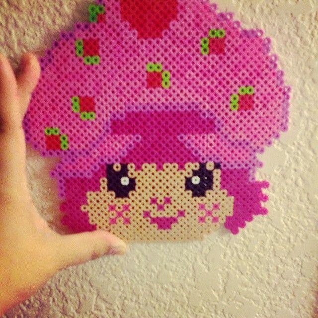 Strawberry Shortcake perler beads by terrorofaurora