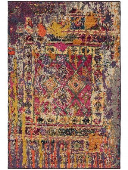 Teppich Vintage Liguria Multicolor Rot Vintage Teppiche