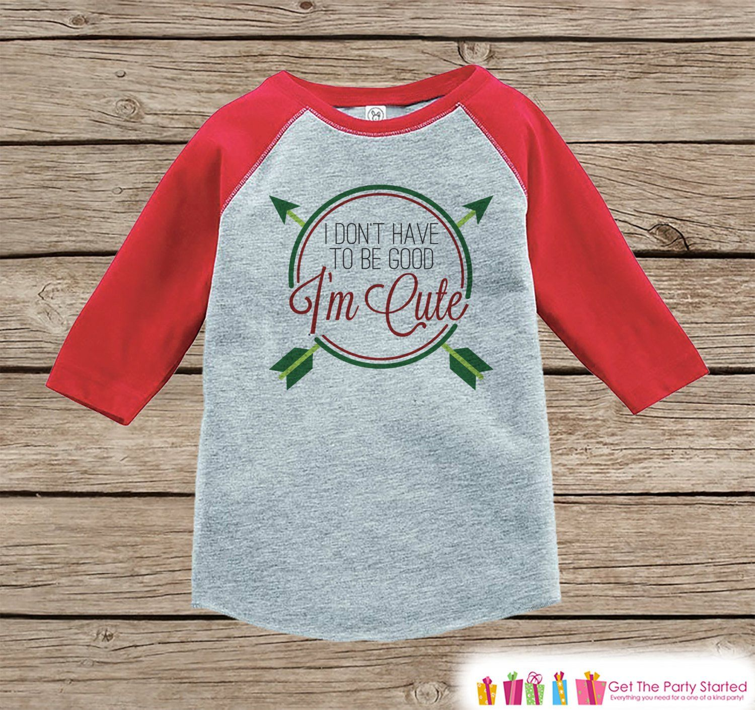 Funny Kids Christmas Outfit  Ium Cute Christmas Onepiece or Shirt