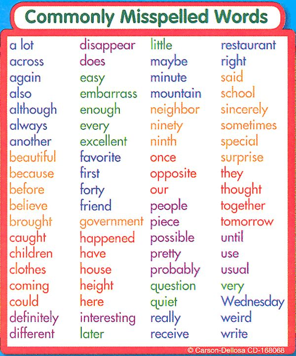 Commonly Misspelled Words Study Buddy Sticker | Main Photo (Cover ...