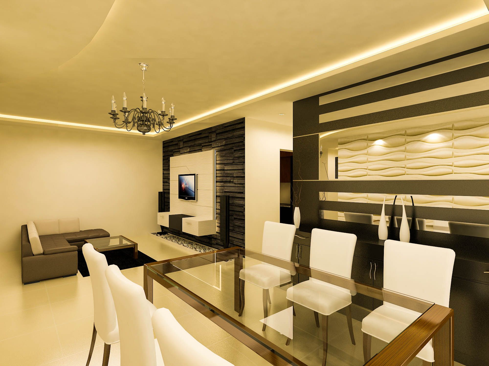 Living Room Designs For Apartments Beauteous A Living Room Design For The Sobha Classic Apartment In Bangalore Review
