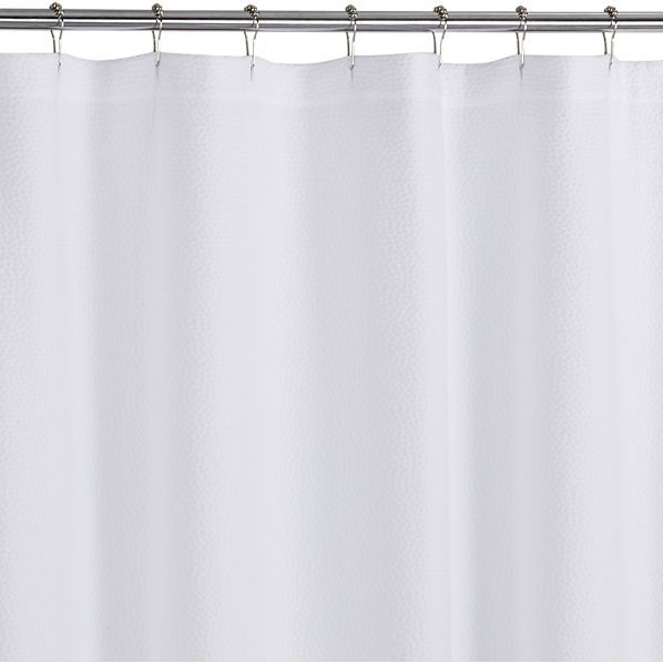 Pebble Matelasse Shower Curtain in Shower Curtains, Rings | Crate ...