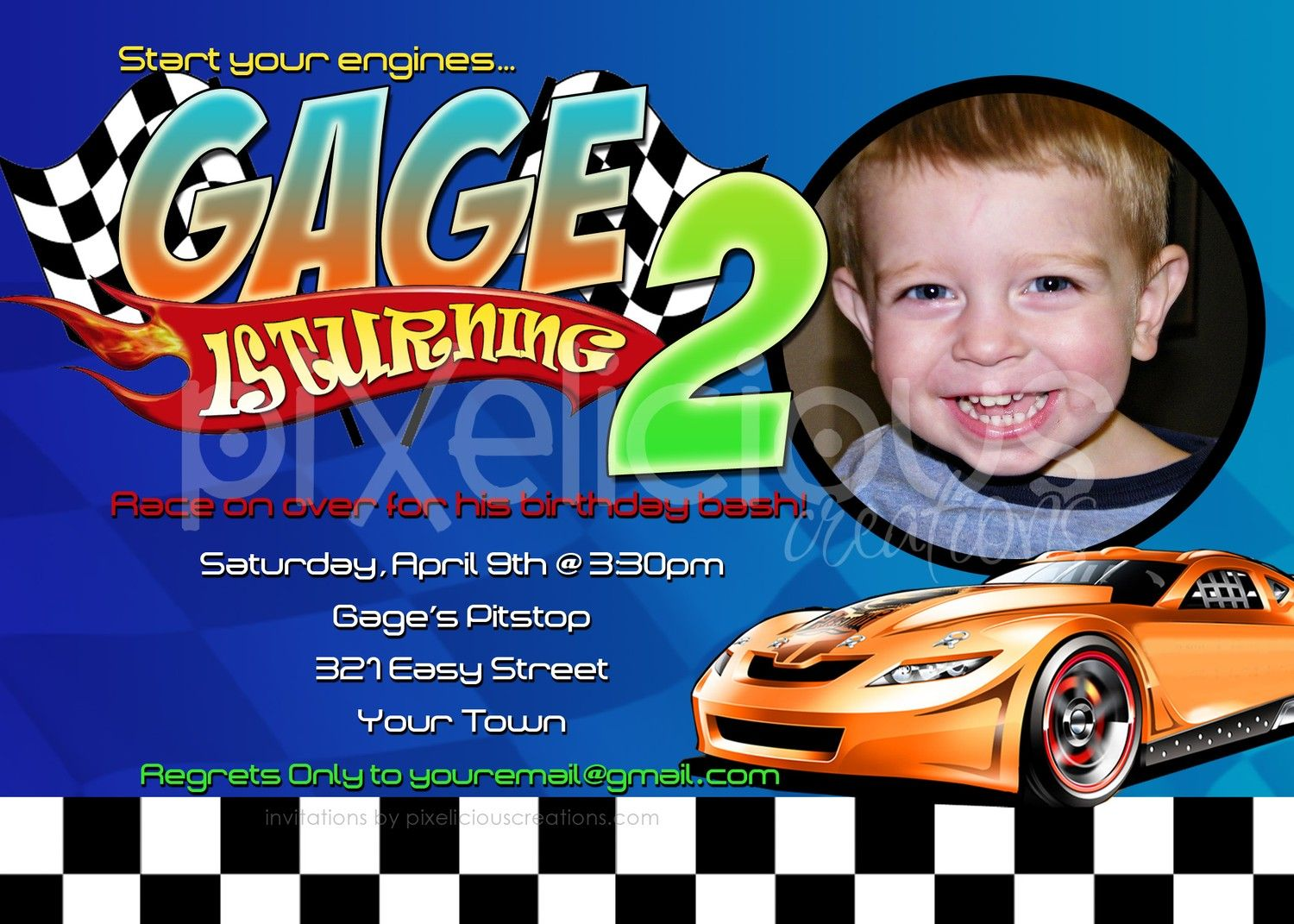 Download Now Hot Wheels Birthday Invitations | FREE Printable ...