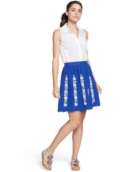 Summer Bloom Skirt WG602 Skirts at Boden