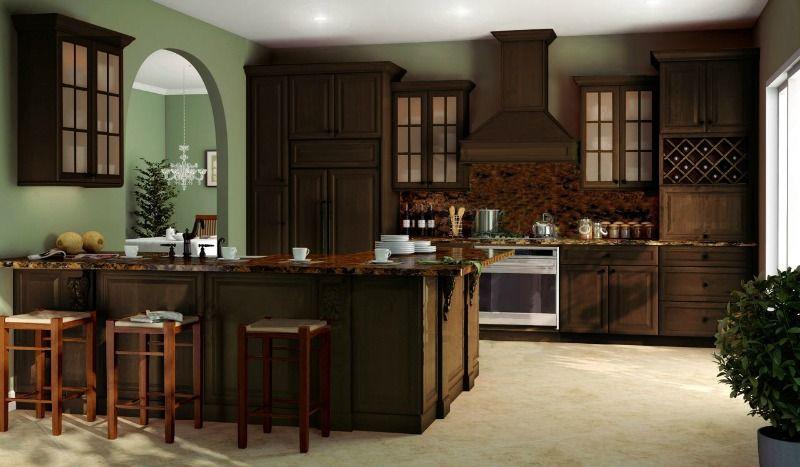Regency Espresso - Ready To Assemble - Kitchen Cabinets ...
