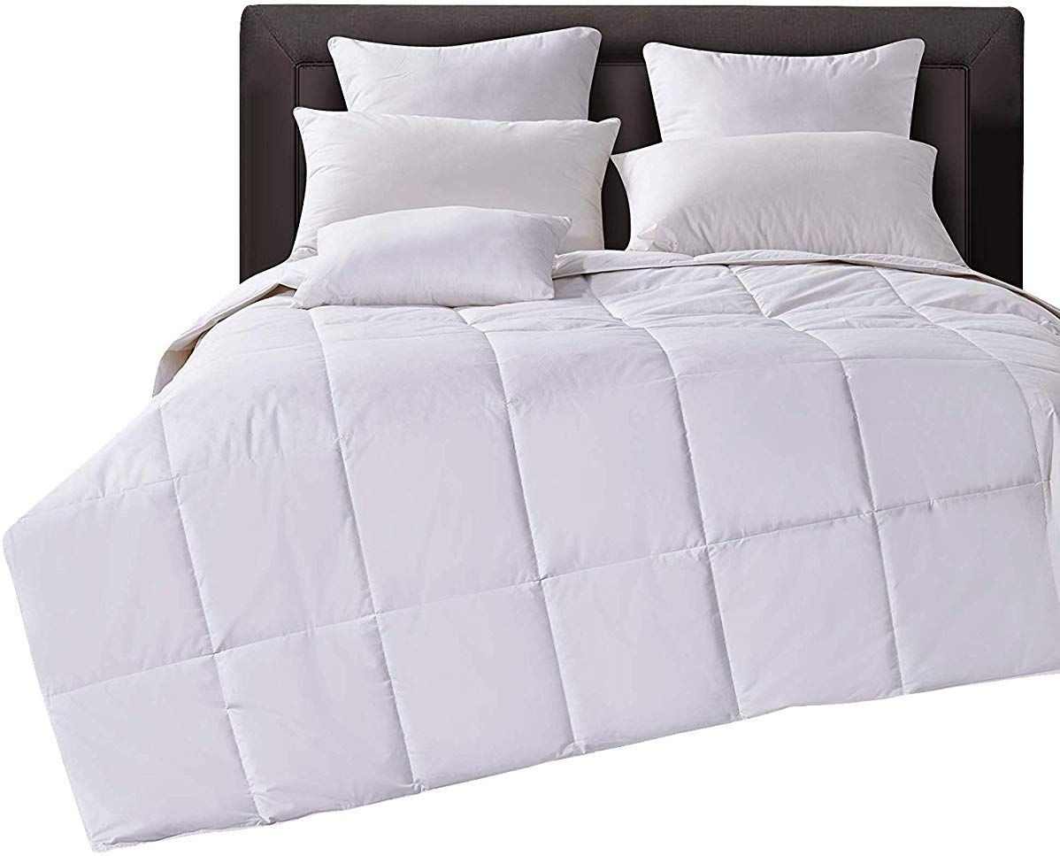 Lightweight Down Comforter Duvet Insert Cotton 550 Fill Power
