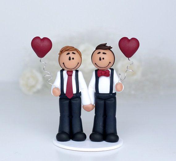 Figurine De Mariage Gay Michael Figurine Réalisée à La Main