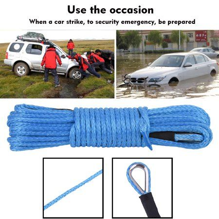 5mmx15m Outdoor Safety Rope Line Cable High Strength Cord Rock Climbing Hiking Accessories Towing Tow Rope 7700lbs Winch Rope Safety Rope Towing