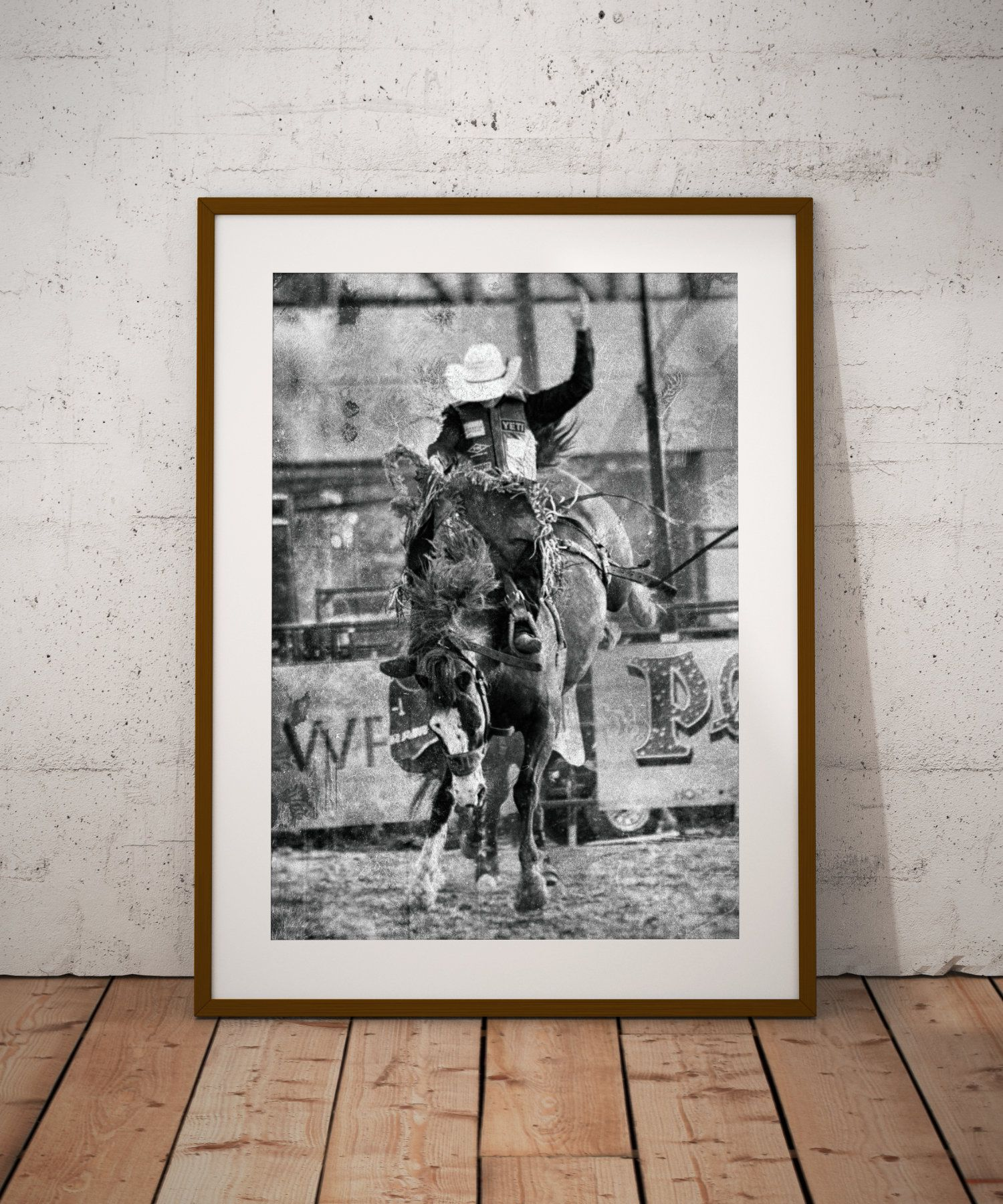 Cowboy Print Vintage Cowboy Poster Rodeo Wall Art Black And Etsy Cowboy Wall Art Cowboy Posters Fine Art Prints Photographs