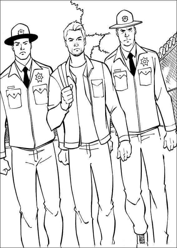 Scott Lang From Ant Man Coloring Page Coloring Pages Scott