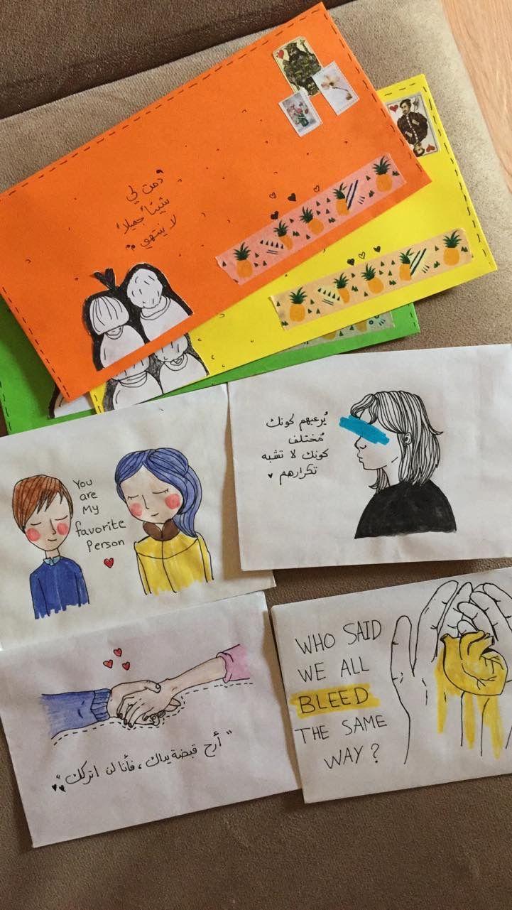 Photo of Handmade drawing envelopes