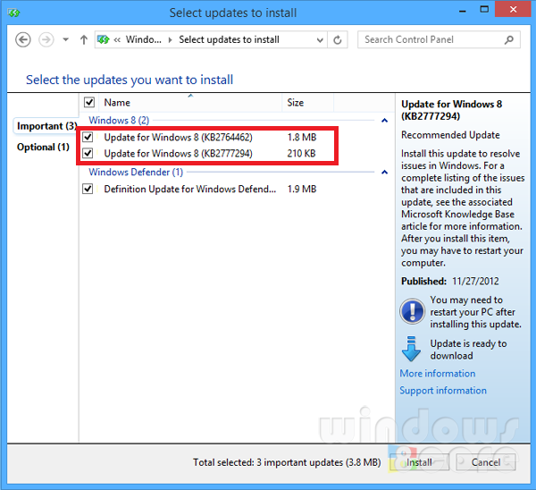 Microsoft releases compatibility updates for Windows 8