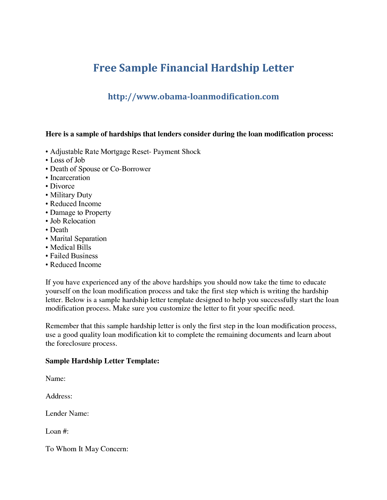How To Write A Letter To A Creditor For Hardship  Google Search