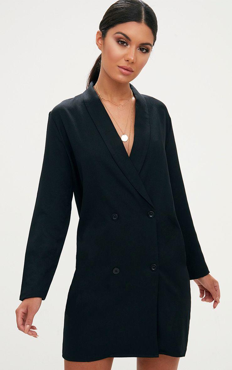 Black Oversized Blazer Shift Dress Blazer Dress Outfits Black Oversized Blazer Oversized Blazer [ 1180 x 740 Pixel ]