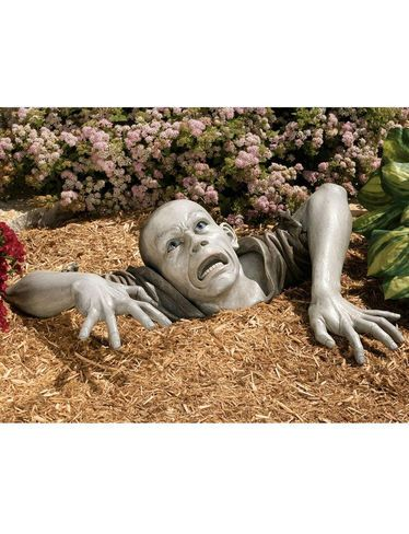 Zombie Garden Statue Бетон Pinterest Garden statues, Haunted - halloween statues