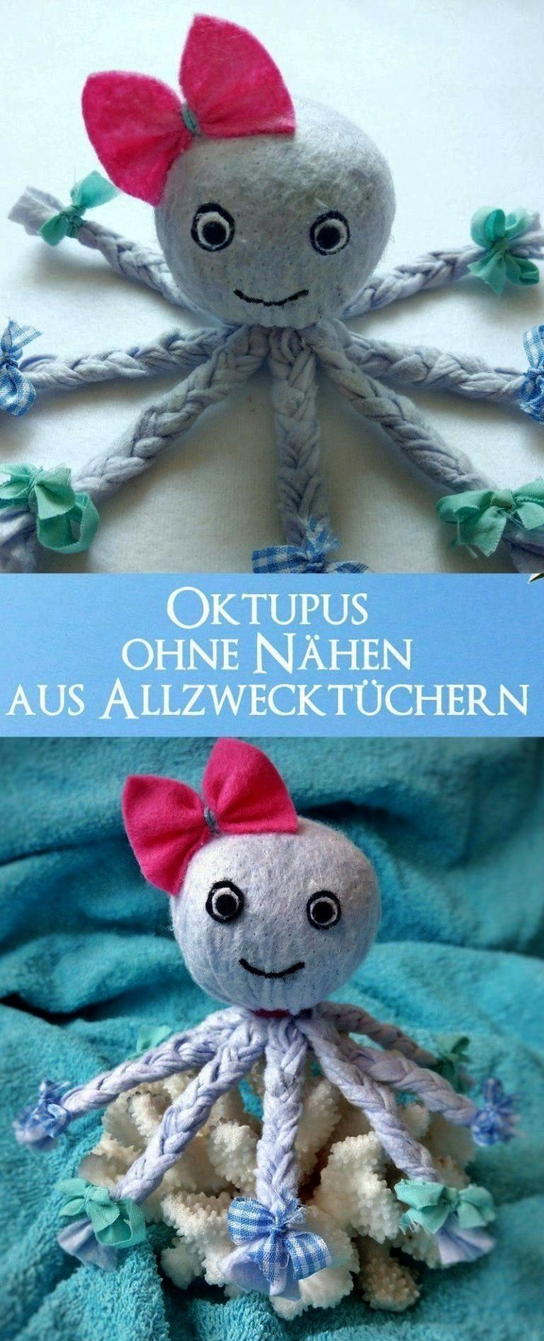 out of allpurpose towels  as a decoration or a cuddly blanketblanketMake octopus out of allpurpose towels  as a decoration or a cuddly blanketblanket Octopus Deko basteln...