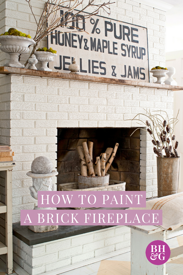 Painted DIY Brick Fireplace Makeover Roomy Pinterest Home