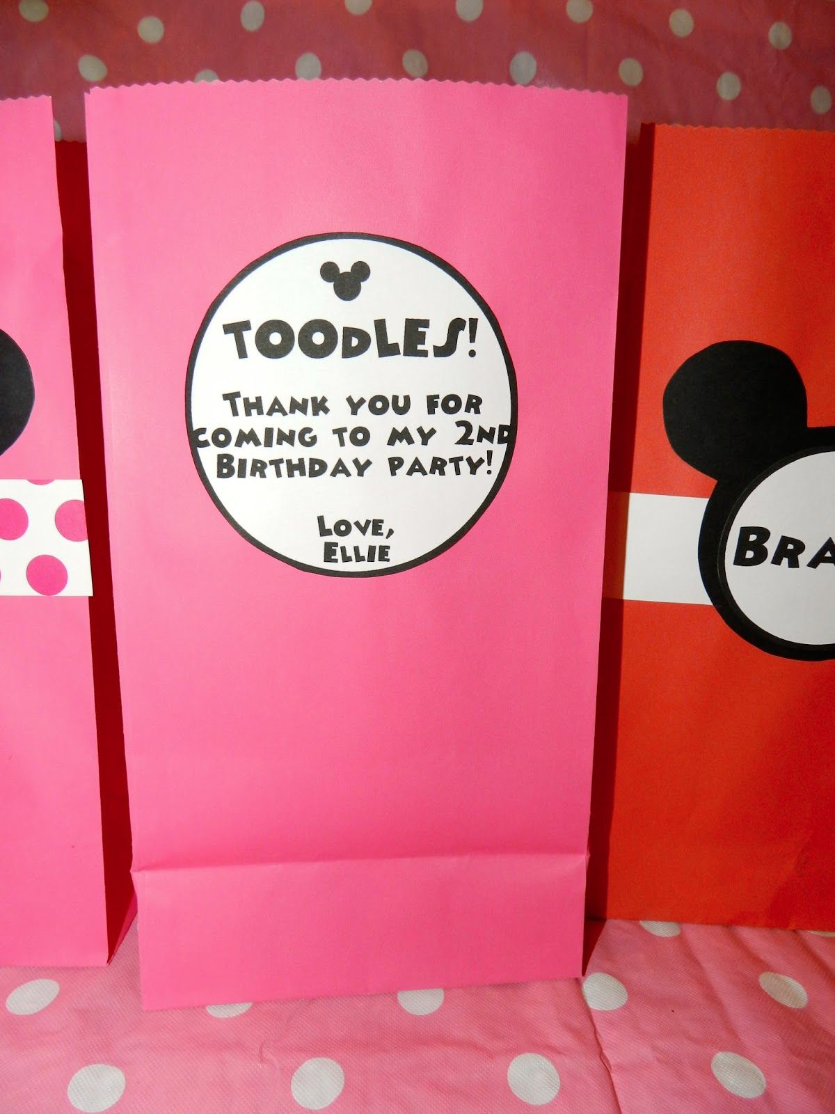 Mickey Mouse Birthday Goody Bags